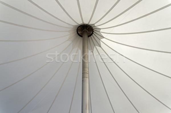 Beyaz çadır alüminyum kutup Stok fotoğraf © pancaketom