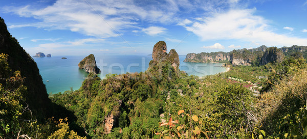 Railay peninsula panorama Stock photo © pancaketom