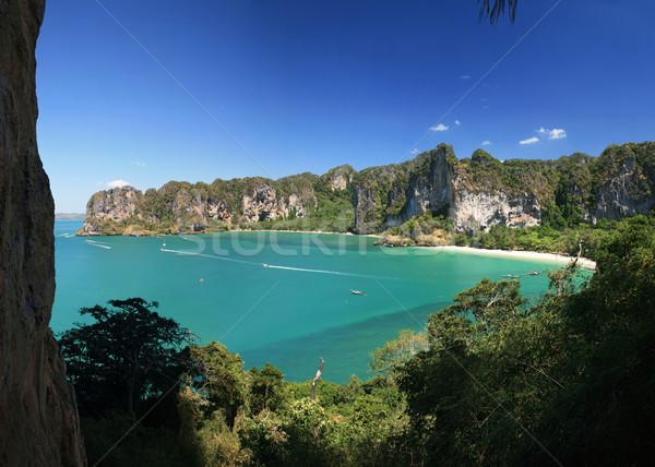 Ocidente lado península panorama parede krabi Foto stock © pancaketom
