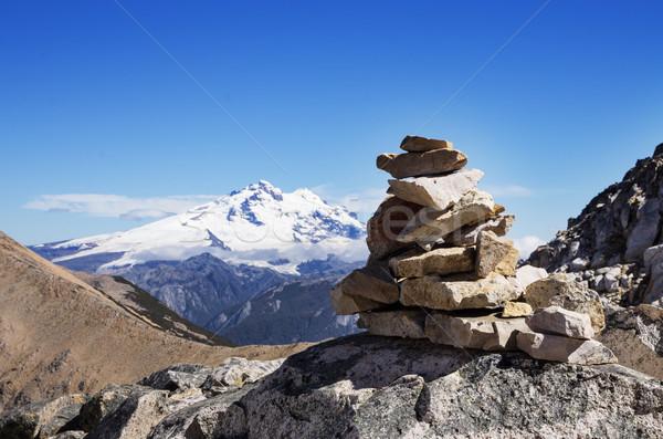 Mountain Rock Cairn Stock photo © pancaketom