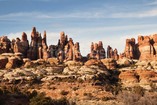 Park kő sziklák Utah természet Stock fotó © pancaketom