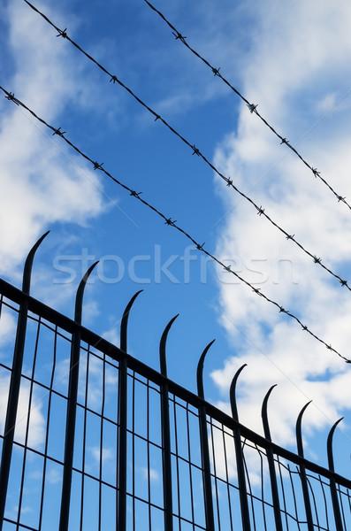 Fence Silhouette Stock photo © pancaketom