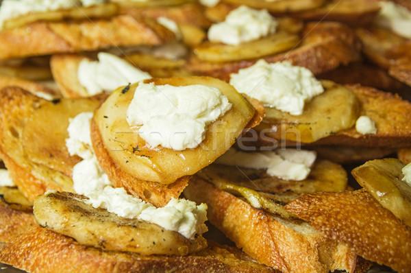Armut keçi peyniri detay Stok fotoğraf © pancaketom
