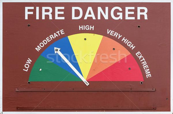 火災 危険標識 セット ストックフォト © pancaketom