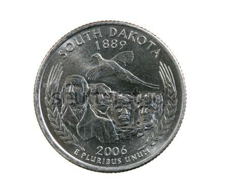 изолированный Висконсин квартал монеты белый корова Сток-фото © pancaketom