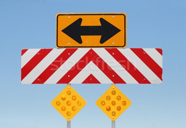 road warning signs Stock photo © pancaketom