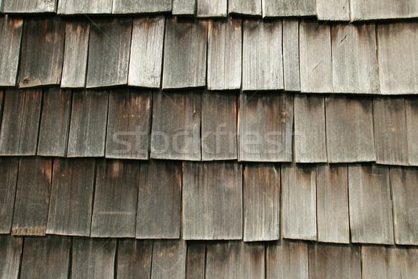 wooden shake roof Stock photo © pancaketom