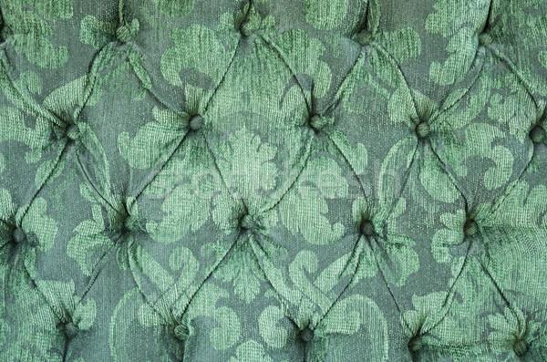 Zöld kárpit bársony textúra háttér textúrák Stock fotó © pancaketom