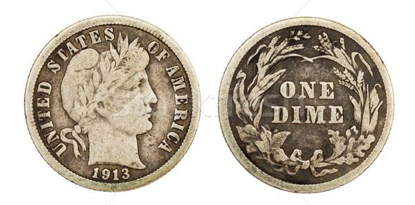 Liberty Barber Dime Coin Stock photo © pancaketom