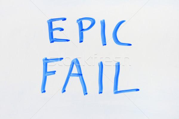 написанный синий маркер высушите совета Сток-фото © pancaketom