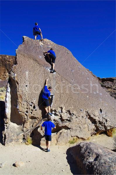 man bouldering series Stock photo © pancaketom