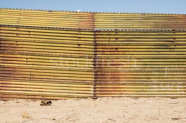 US Mexico Border Stock photo © pancaketom