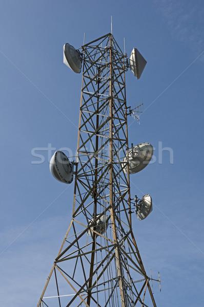 Antena torre comunicações prato outro Foto stock © pancaketom