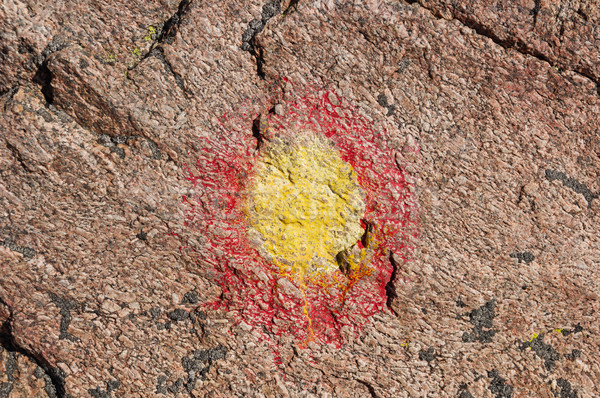 окрашенный маршрут маркер желтый красный Сток-фото © pancaketom