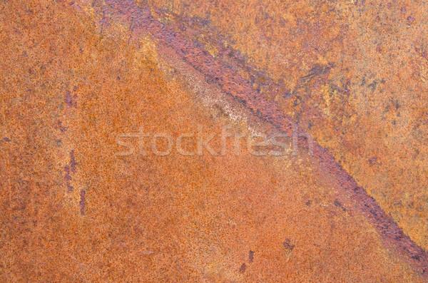 Rusty metal naranja hoja textura de metal textura Foto stock © pancaketom
