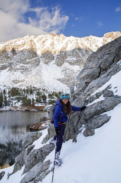 Snow Hiking Woman Stock photo © pancaketom