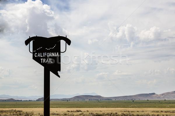 カリフォルニア 歩道 にログイン ネバダ州 ストックフォト © pancaketom