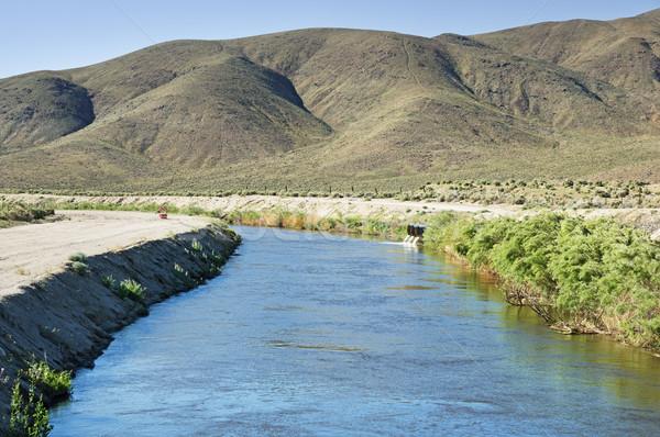 Vallei water woestijn kanaal Stockfoto © pancaketom