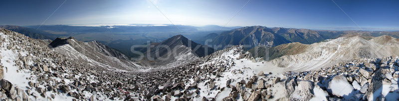 Mount Princeton Summit Panorama Stock photo © pancaketom