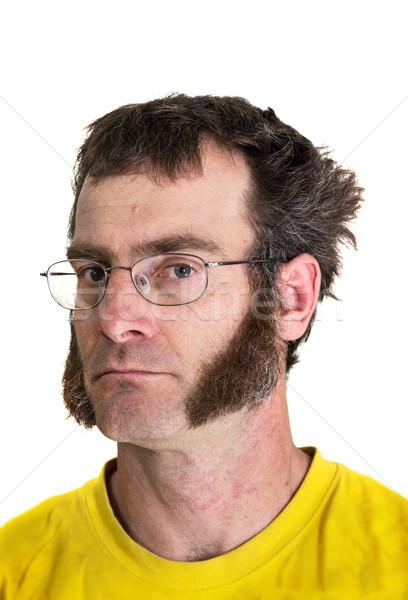 男 黄色 Tシャツ 眼鏡 Tシャツ ストックフォト © pancaketom