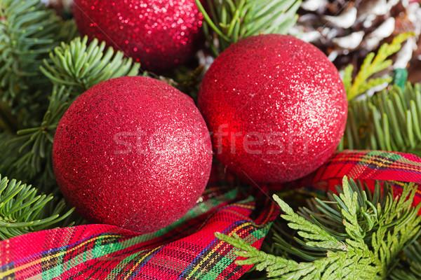 赤 クリスマス 松 リボン ストックフォト © pancaketom