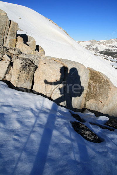 hiker shadow Stock photo © pancaketom