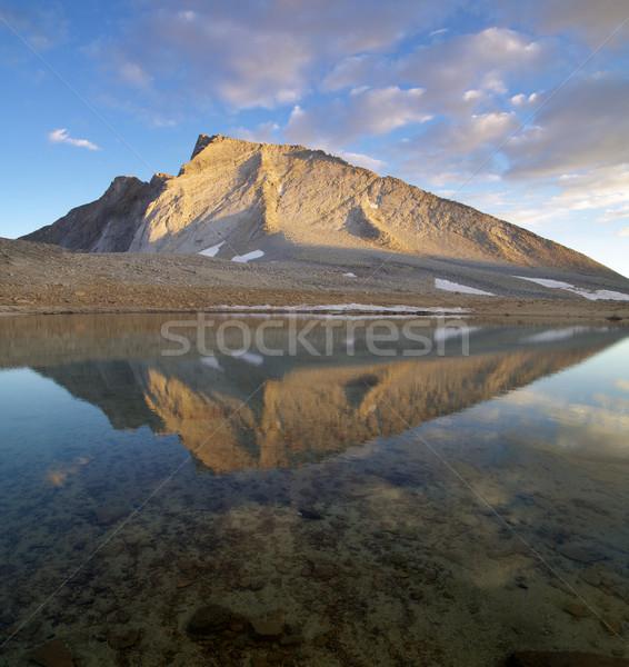 反射 湖 照明 日没 風景 ストックフォト © pancaketom