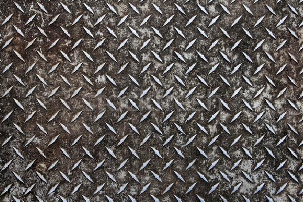 öreg gyémánt tányér koszos elnyűtt alumínium Stock fotó © pancaketom