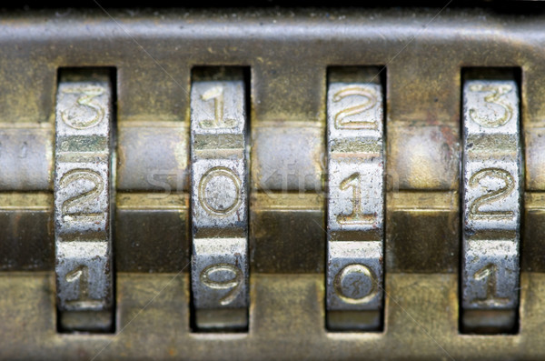 2012 on combination lock Stock photo © pancaketom