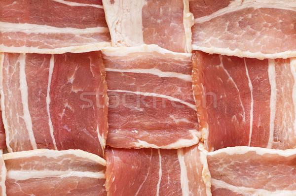 Raw Bacon Lattice Stock photo © pancaketom