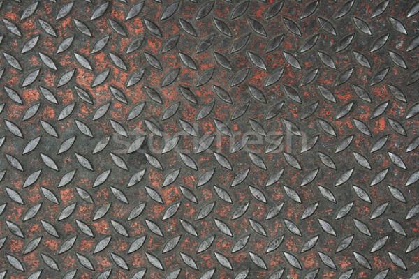 古い 金属 描いた ダイヤモンド プレート テクスチャ ストックフォト © pancaketom