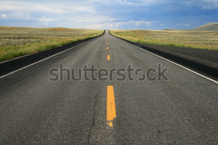 Wyoming road Stock photo © pancaketom