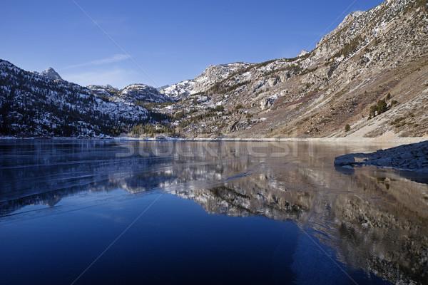 Zamrożone jezioro Nevada lodu Zdjęcia stock © pancaketom