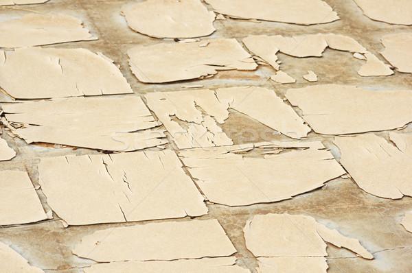 Oude verweerde vloer tegel gebarsten gebroken Stockfoto © pancaketom