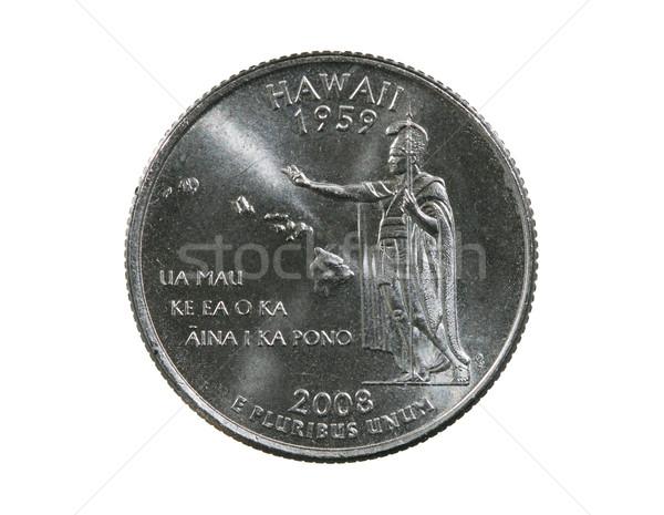 Hawaii çeyrek yalıtılmış beyaz para nakit Stok fotoğraf © pancaketom