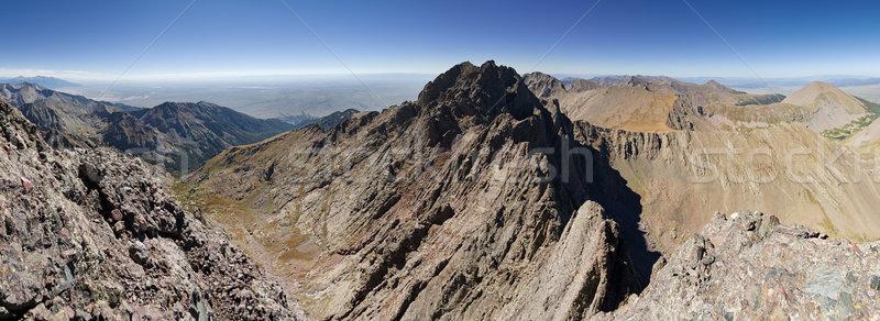 Tű panoráma terjedelem hegy Colorado magas Stock fotó © pancaketom