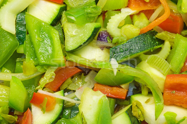 Cocina hortalizas pimientos calabacín apio Foto stock © pancaketom