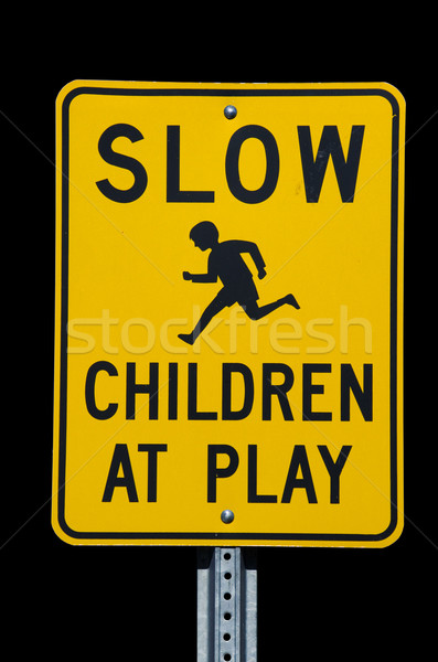 Slow Children at Play Sign Stock photo © pancaketom
