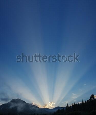 Sunrays Over The Mountains Stock photo © pancaketom