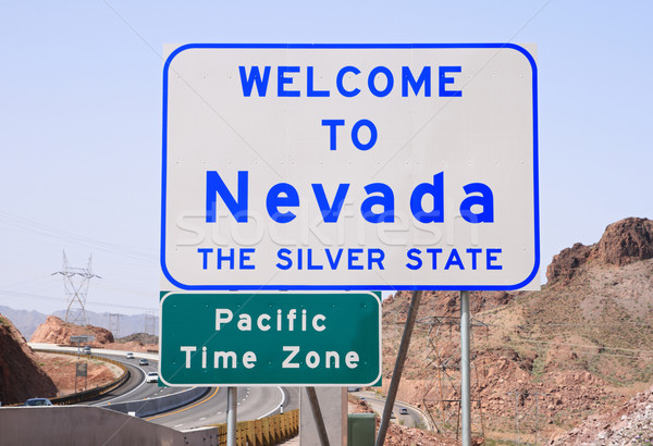 Karşılama Nevada imzalamak karayolu Colorado nehir Stok fotoğraf © pancaketom