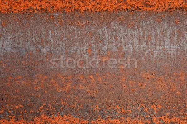 Enferrujado metal vermelho ferro textura do grunge fundo Foto stock © pancaketom
