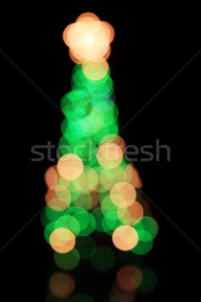 Defocussed Christmas Tree Stock photo © pancaketom