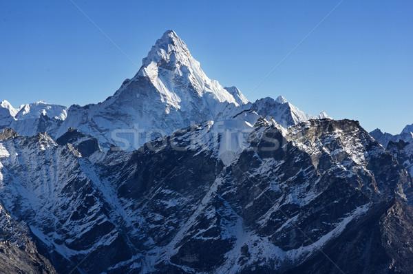 山 雪 崖 ヒマラヤ山脈 ストックフォト © pancaketom