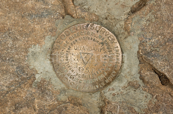 Quandary Peak Summit Bench Mark Stock photo © pancaketom