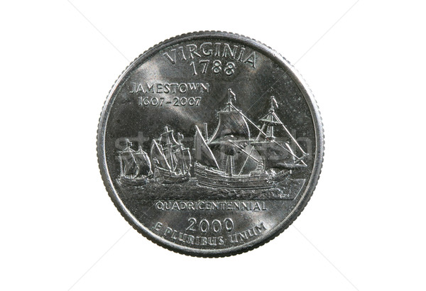 isolated Virginia quarter Stock photo © pancaketom