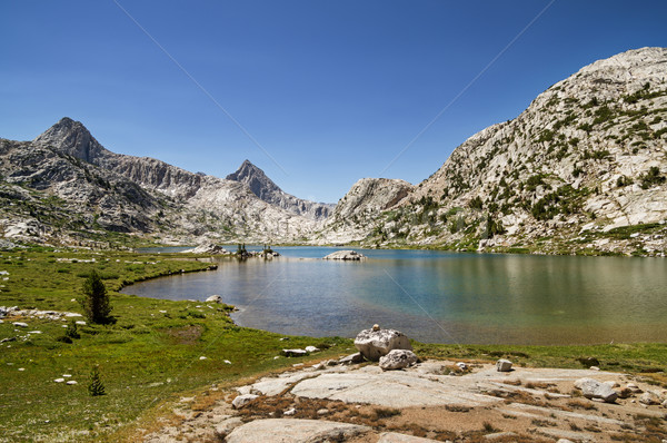 évolution lac paysage Nevada montagnes Photo stock © pancaketom
