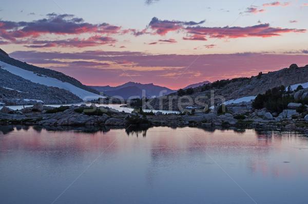 Darwin Lakes Sunset Stock photo © pancaketom