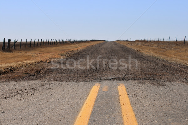 Route de gravier route Texas chemin horizon Photo stock © pancaketom
