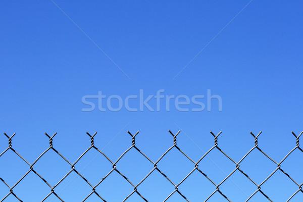 Foto d'archivio: Catena · link · recinzione · top · cielo · blu · copia · spazio