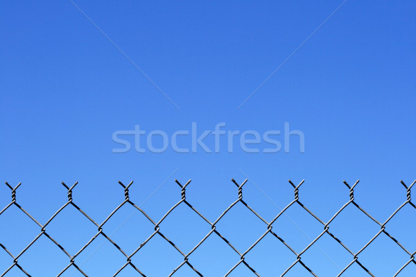chain link fence top Stock photo © pancaketom